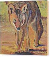 Coyote Hunting Wood Print
