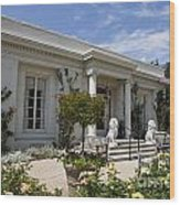 The Huntington Library Rose Garden Tea House Wood Print