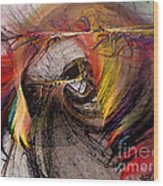The Huntress-abstract Art Wood Print