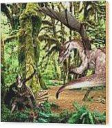 The Huntress Wood Print