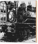The Hurricane Express Homage 1932 19th Century Locomotive Ghost Town Nevada City Montana Wood Print