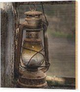 The Hurricane Lamp Wood Print