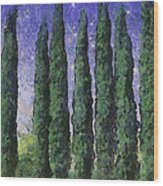 The Hushed Poetry Of Trees In The Night Wood Print by Wendy J St Christopher