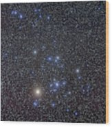 The Hyades Cluster With Aldebaran Wood Print