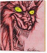 The Hyena Wood Print by Michael Mestas