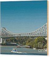 The Icon Of Brisbane - Story Bridge Wood Print