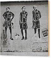 Homage To Banksy Wood Print