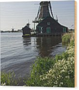 The Iconic Windmills Of  Holland  Wood Print
