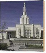 The Idaho Falls Mormon Temple Wood Print