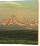 The Idaho Side Of The Grand Tetons Wood Print