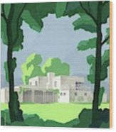 The Ideal House In House And Gardens Wood Print