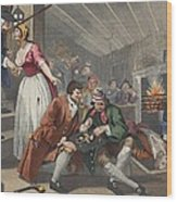 The Idle Prentice Betrayed Wood Print by William Hogarth