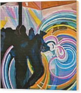 The Illuminated Dance Wood Print