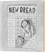 The Image Is The Front Cover Of New Dread: Wood Print
