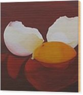 The Incredible Egg Wood Print by Roseann Gilmore