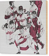 The Indians' Glory Years-late 90's Wood Print