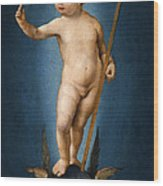 The Infant Christ On The Orb Of The World Wood Print