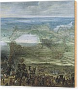 The Infanta Isabella Clara Eugenia At The Siege Of Breda Of 1624 Wood Print