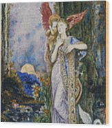 The Inspiration  Wood Print by Gustave Moreau