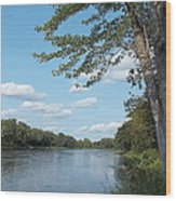 The Intervale On The Piscataquis Wood Print