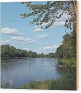 The Intervale On The Piscataquis River Wood Print