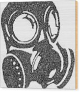 The Intricacies Of A Gas Mask Wood Print