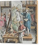The Invention Of Oil Paint, Plate 15 Wood Print