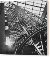 The Iron Hell Stairs Wood Print