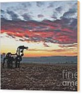 The Iron Horse Early Dawn The Iron Horse Collection Art Wood Print