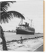 The Iroquois In Biscayne Bay Wood Print