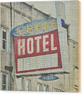 The Irving Hotel In Chicago Wood Print