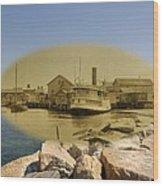 The Islander At Sakonnet Point In Little Compton Rhode Island Wood Print