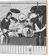 The J. Geils Band Rock Out In Oakland In 1976 Wood Print