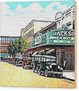 The Jackson Theatre In Jackson Hts. Queens N Y In 1930 Wood Print