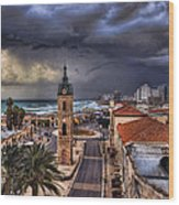 the Jaffa old clock tower Wood Print