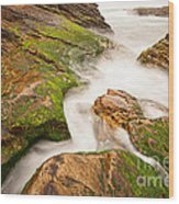 The Jagged Rocks And Cliffs Of Montana De Oro State Park In California Wood Print