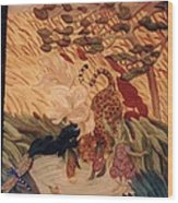 The Jaguar  Wood Print by Charles Lucas