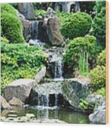 The Japanese Garden Wood Print by Bill Cannon