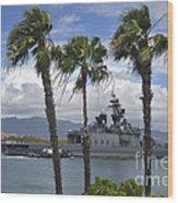 The Japanese Self Defense Force Ship Js Wood Print