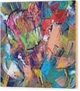 Jazz Abstract Painting Wood Print