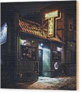 The Jazz Estate Nightclub Wood Print