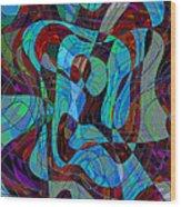 The Jazz Musician Wood Print