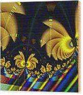 The Jester's Golden Pop-poppies Wood Print
