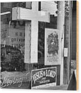 The Jesus Store Wood Print