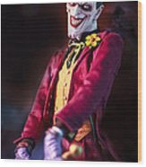 The Joker Dummy Wood Print