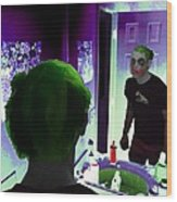 The Joker In Me Wood Print