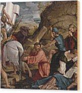 The Journey To Calvary, C.1540 Wood Print