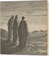 The Journey To Emmaus Wood Print
