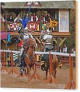 The Jousters 2 Wood Print