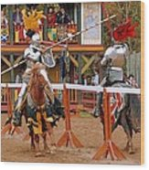 The Jousters 3 Wood Print